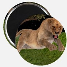 Female Lion Hunting Magnets