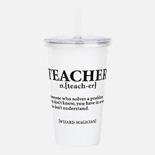 TEACHER NOUN Acrylic Double-wall Tumbler