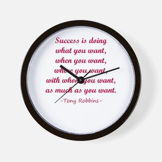 Tony Robbin quotes Wall Clock