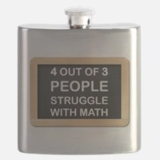 Math Struggles - Teacher Gifts Flask