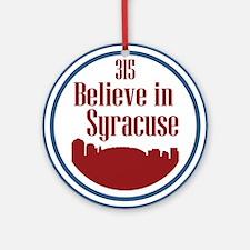 Funny Syracuse Round Ornament