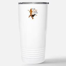 my dog is my running pa Travel Mug