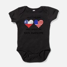 Half Chilean Half American Body Suit