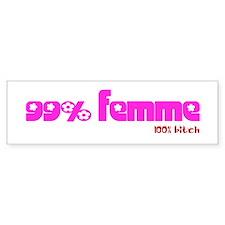 99% femme Bumper Bumper Sticker