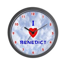 I Love Benedict (Red/Bl) Valentine Wall Clock