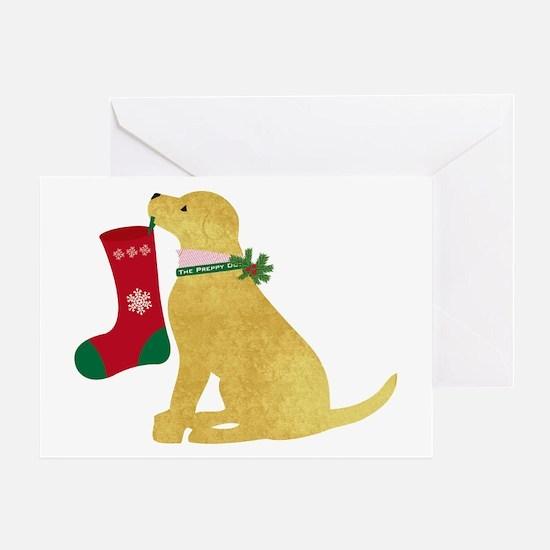 Christmas Retriever Preppy Dog Greeting Card