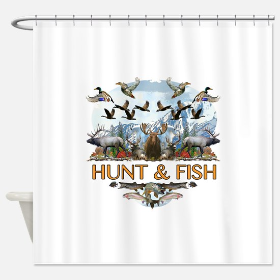 Hunt and fish Shower Curtain