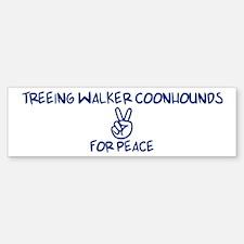 Treeing Walker Coonhounds for Bumper Bumper Bumper Sticker