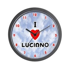 I Love Luciano (Red/Blk) Valentine Wall Clock