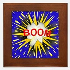 Boom Cartoon Bubble Framed Tile