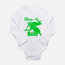 Elkaholic beer Long Sleeve Infant Bodysuit