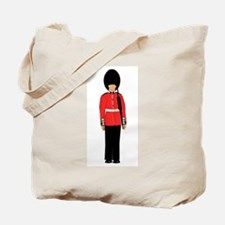 British Soldier On Guard Duty Tote Bag