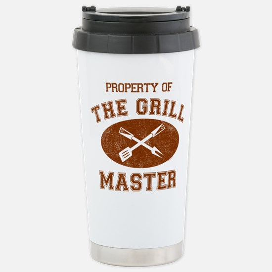 Property Of Grill Maste Stainless Steel Travel Mug