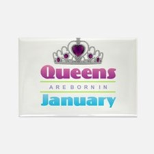Queens are Born In January Magnets