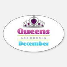 Queens are Born In December Decal