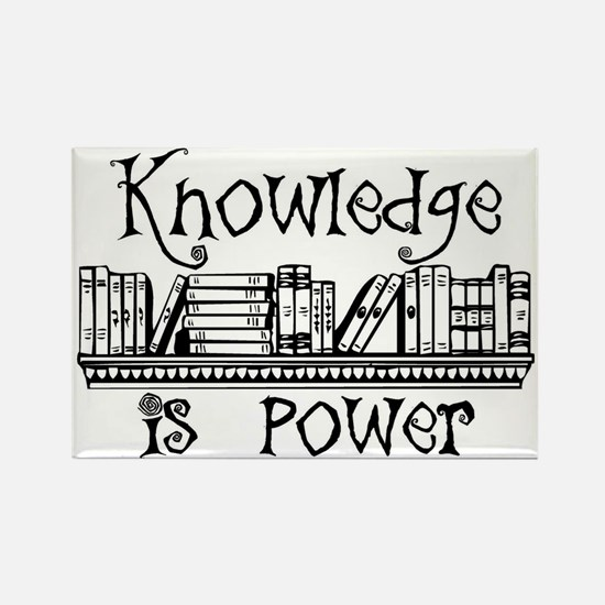 Knowledge is Power - Librarian Gifts Magnets