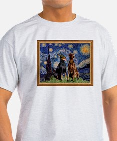 Starry Night & Dobie Pair T-Shirt