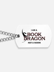 Cool Bookworm Dog Tags