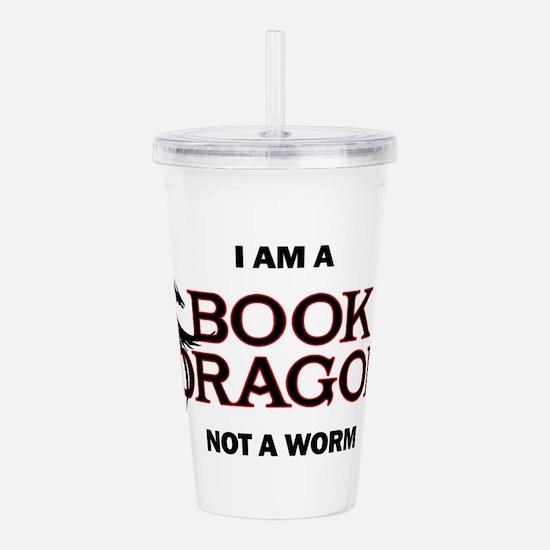 I am a Book Dragon Acrylic Double-wall Tumbler