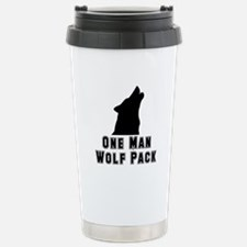 Cute Wolf man Travel Mug