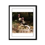 Two Turkeys on a Log Framed Panel Print