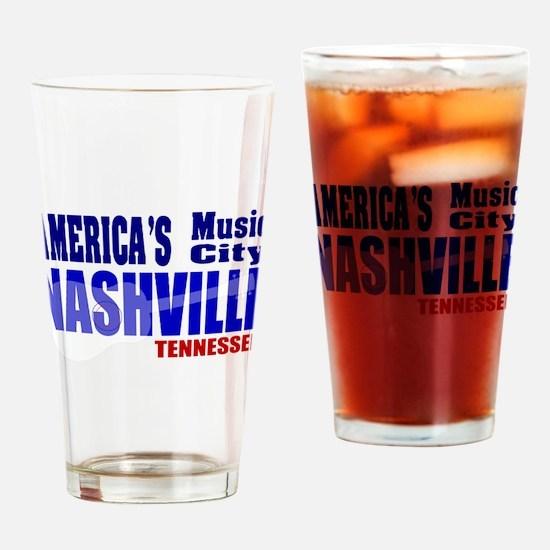 Nashville America's Music City-RWB Drinking Glass