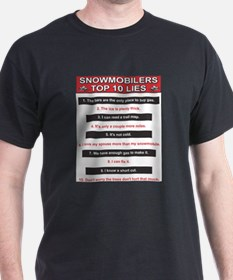 Snowmobilers Top Ten Lies T-Shirt