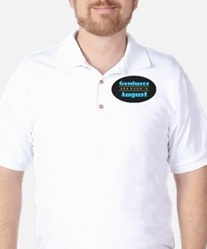 Geniuses are Born In August Golf Shirt
