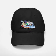 Las Vegas Travel Poster Baseball Hat