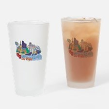 Las Vegas Travel Poster Drinking Glass
