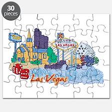 Las Vegas Travel Poster Puzzle