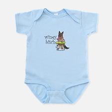 German Shepherd Winey Bitch Infant Bodysuit