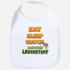 Eat Sleep watch Dexters Laboratory Baby Bib