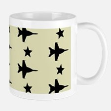 F-18 Hornet Fighter Jet Pattern (Sand) Mug