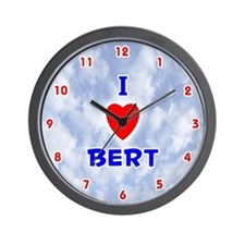 I Love Bert (Red/Bl) Valentine Wall Clock