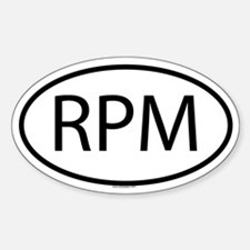 RPM Oval Bumper Stickers