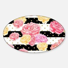 Watercolor Floral Sticker (Oval)