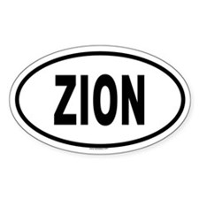 ZION Oval Decal