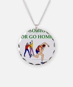Cute Sports humor Necklace Circle Charm