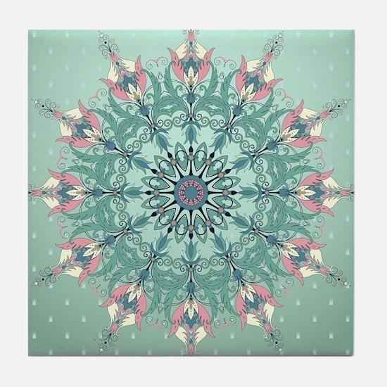 Vintage Floral Tile Coaster