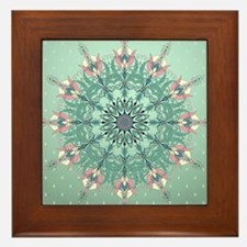 Vintage Floral Framed Tile