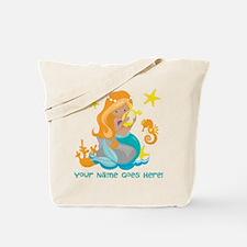 Blond Mermaid Tote Bag
