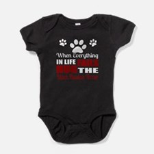 Hug The Black Russian Terrier Baby Bodysuit