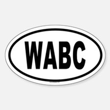 WABC Oval Decal