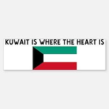 KUWAIT IS WHERE THE HEART IS Bumper Bumper Bumper Sticker
