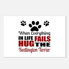 Hug The Bedlington Terrie Postcards (Package of 8)
