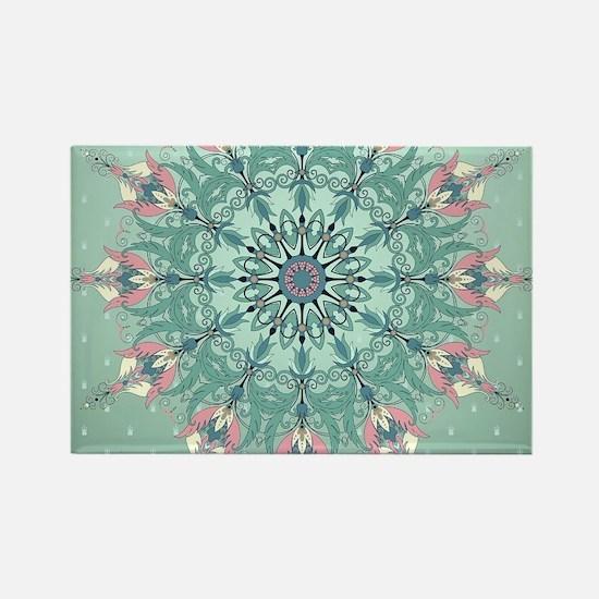 Vintage Floral Rectangle Magnet