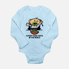 Cutest Food Critic Long Sleeve Infant Body Suit
