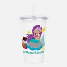 Purple Mermaid Acrylic Double-Wall Tumbler