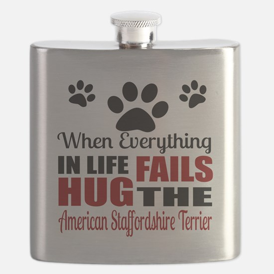 Hug The American Staffordshire Terrier Flask